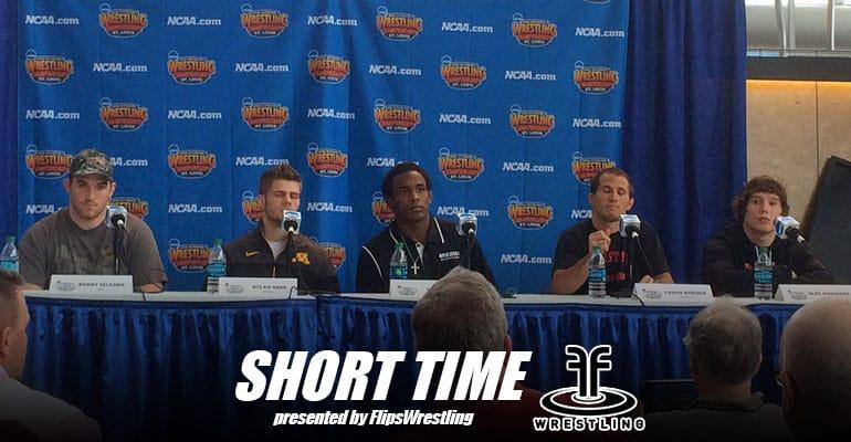 2015 NCAA Division I Wrestling Athlete Press Conference – Bobby Telford, J'Den Cox, Dylan Ness, Logan Stieber, Alex Dieringer