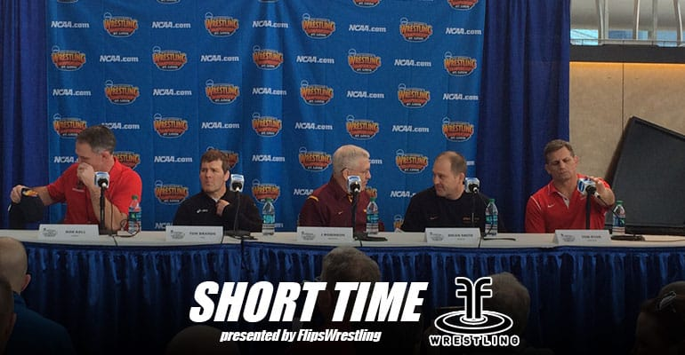 2015 NCAA Division I Wrestling Coaches Press Conference – Rob Koll, Tom Brands, J Robinson, Brian Smith and Tom Ryan