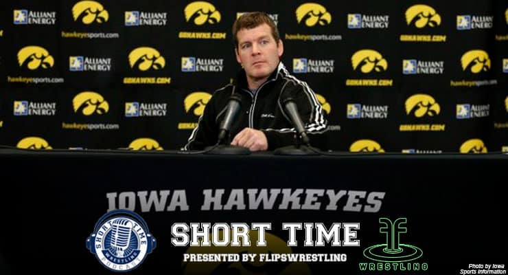 Iowa head coach Tom Brands prepares for Oklahoma State in outdoor dual at Kinnick Stadium – ST217