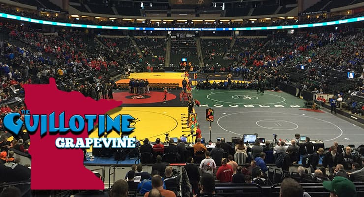 GG12: State Champions Mitchell McKee, Griffin Parriott and Mark Hall as well as Penn State head coach Cael Sanderson