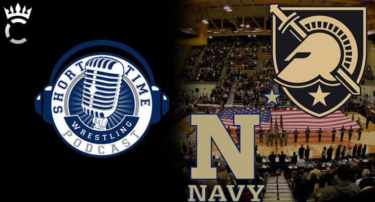 Navy's Joel Sharratt and Army West Point's Kevin Ward discuss wrestling's ARMY-NAVY rivalry – ST310