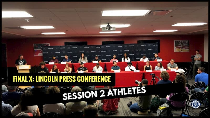 Final X Lincoln Press Conference: Session 2 Athletes
