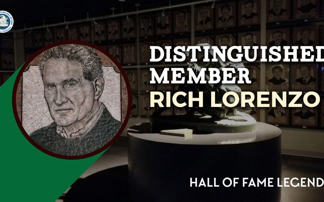 2019 Distinguished Member Rich Lorenzo