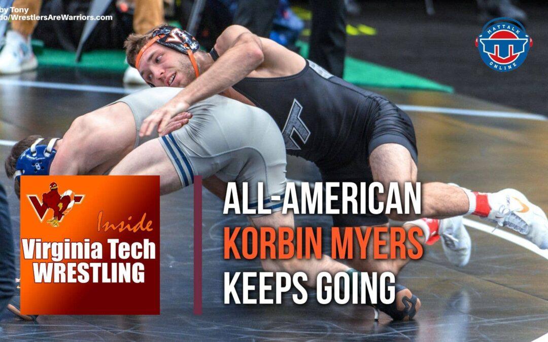 Hokies All-American Korbin Myers pursuing a doctorate in wrestling – VT103